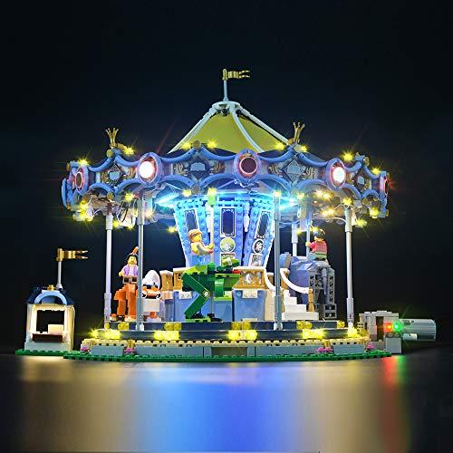 LIGHTAILING Conjunto de Luces (Creator Expert Carrusel) Modelo de Construcción de Bloques - Kit de luz LED Compatible con Lego 10257 (NO Incluido en el Modelo)