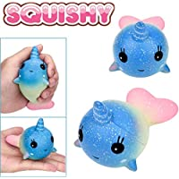 2018 Newest Slow Rising Squishies Jumbo, Toamen Galaxy Whale Scented Squishy Charm Slow Rising Simulation Kid Toy Key Cell Phone Pendant Strap Gift Home Décor