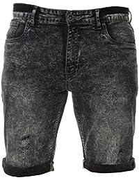 ENZO Hommes Slim Fit Short été bleu noir gris, neuf avec étiquette