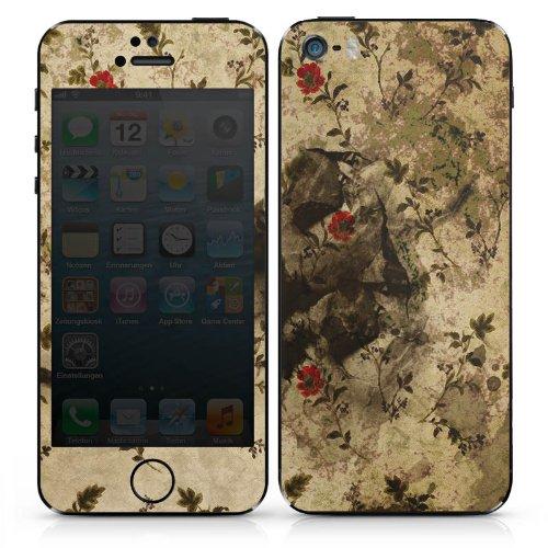 Apple iPhone 5s Case Skin Sticker aus Vinyl-Folie Aufkleber Vintage Muster Blumen DesignSkins® glänzend
