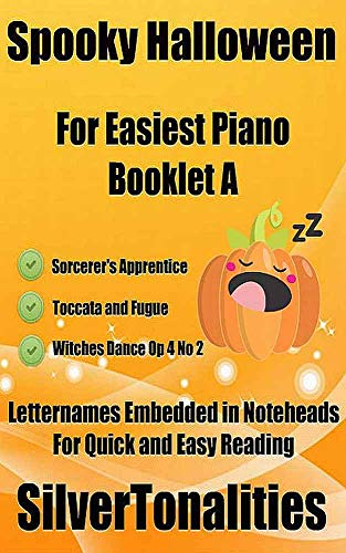 Spooky Halloween for Easiest Piano Booklet A (English Edition) (Halloween Sebastian Bach)
