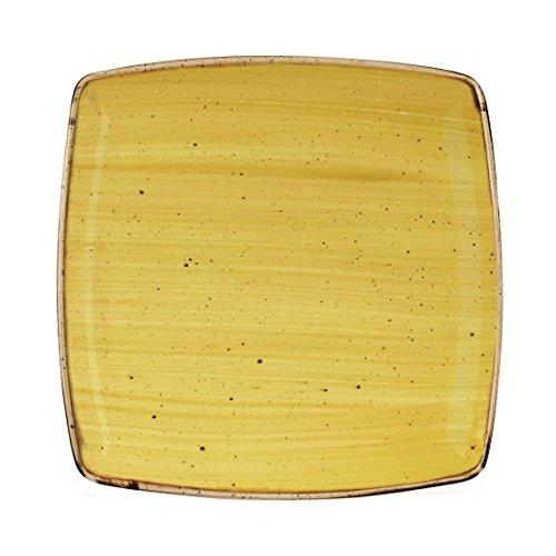 Churchill Classcast Deep Assiettes Carrées Graines de Moutarde Jaune mm