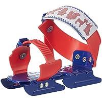 Nijdam Gleitschuhe verstellbar - Patines de patinaje sobre hielo, color rojo/azul, talla 24-34