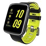 KOBWA Fitness socken - Smartwatch - Fitness Tracker IP68 Swimproof 1.54 Zoll Bunten Touch Bildschirm Intelligente Uhr mit Pulsmesser, Schrittzähler, Schlafanalyse, Kalorienzähler, Bluetooth Aktivitätstracker für Android und IOS