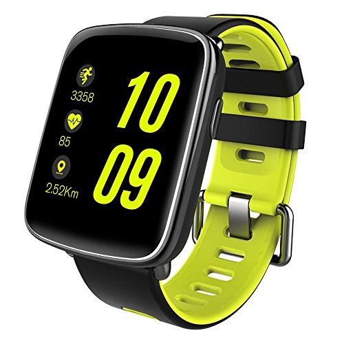 KOBWA Fitness Armband - Smartwatch - Fitness Tracker IP68 Swimproof 1.54 Zoll Bunten Touch Bildschirm Intelligente Uhr mit Pulsmesser, Schrittzähler, Schlafanalyse, Kalorienzähler, Bluetooth Aktivitätstracker für Android und IOS