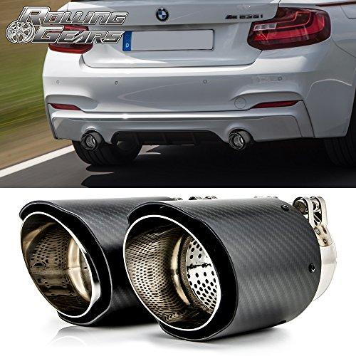 Rolling Gears Dry Carbon Fiber Auspuff Schalldämpfer Tipps 89mm (3.5