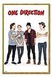 One Direction ohne Zayn Portrait Poster Magnettafel Eichenholz-Rahmen, 96,5x 66cm (ca. 96,5x 66cm)