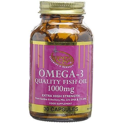 Vega Omega-3 Quality Fish Oil 1000mg Extra High Strength -
