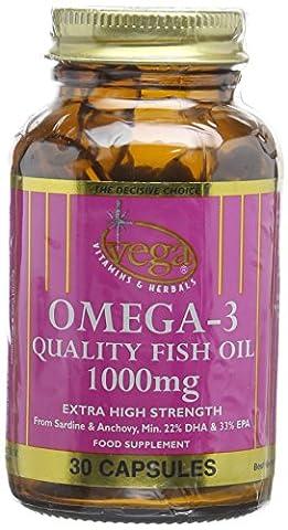 Vega 1000mg Extra High Strength Omega-3 Quality Fish Oil -