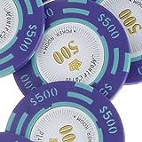 Gazechimp Accesorios de Juguetes Nominal De 500 Dólares Monte Carlo Fichas Poker De Arcilla Sala De Póquer Del Casino Etiqueta Juegos