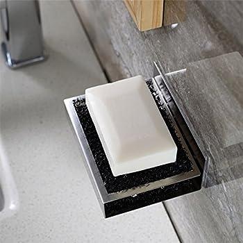 zunto badezimmer k che selbstklebende seifenschale edelstahl seifenhalter ohne bohren. Black Bedroom Furniture Sets. Home Design Ideas