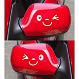 ulooie Auto Funny Reflektierende Aufkleber Flügel Tür Spiegel Funny Sticker Aufkleber (weiß)