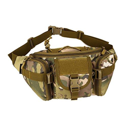 Gazechimp Gürteltasche - Bauchtasche Multifunktionale Hüfttasche mit Reißverschluss, praktisch und robust, geeignet für Reise Wanderung und fast alle Outdoor Aktivitäten Unisex Waist Bag CP Camo