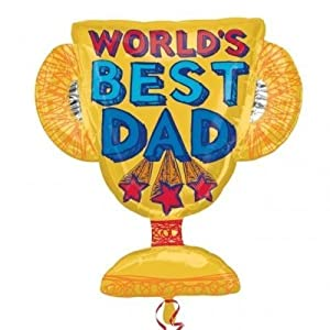 Anagram Worlds Best Papa Trophäe Supershape Folienballon