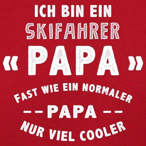 Ich bin ein Skifahrer Papa - Herren T-Shirt - 13 Farben Rot