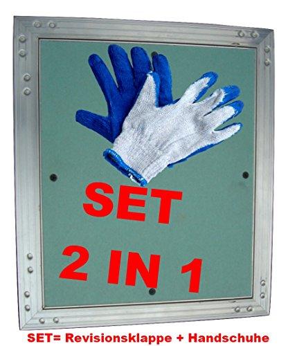 set-revisionstur-revisionsklappe-gk-einlage-kral-2-200-x-200-mm-grun-gipskarton-125-mm-aluminium-rah