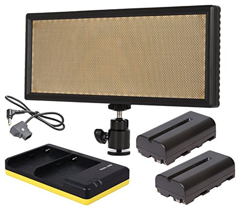 12b Lcd (AVtec LedPAD X63 Set Bi-Color LED Leuchte + 2x NP-F550 + Charger + D-Tap Kabel)