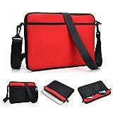 Kroo uneversal Messenger/Sleeve Tasche mit Zubehör Tasche und Schulterriemen passt für Dell Latitude 12E5250 rot rot