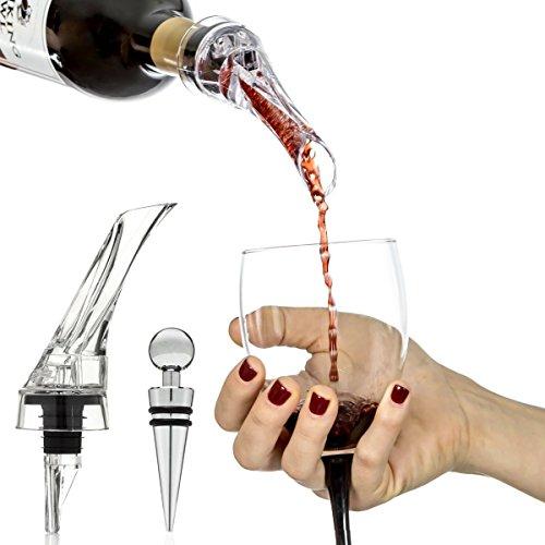 Decantador Aireador Vinomaster de Vino - Set de Regalo y el Mejor Tapón de Vino Accesorio