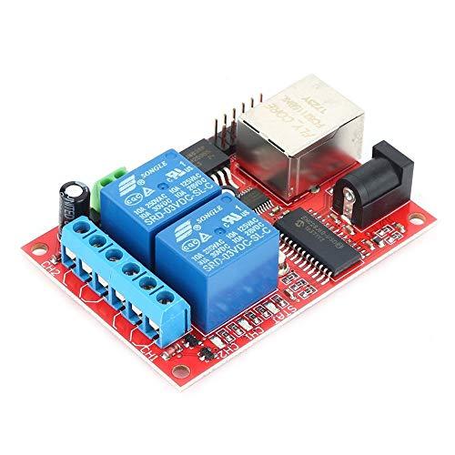 Erduo LAN Ethernet 2-Wege-Relais Board Verzögerungsschalter TCP/UDP-Controller-Modul Web Server Electronic Kit Platine - Multicolor - Grill-modul
