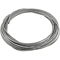 SODIAL(R) 3 mm diametro Cable cuerda alambre de acero inoxidable flexible 12 metros de longitud