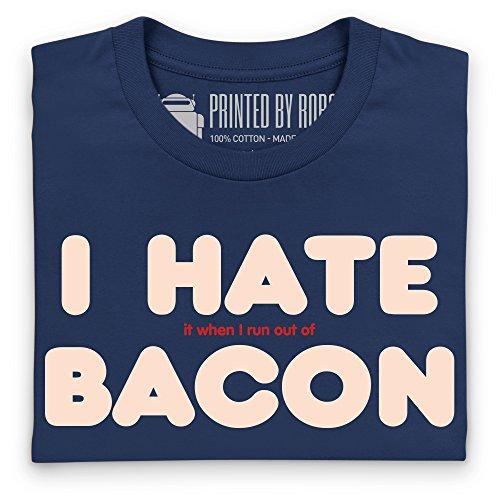I Hate Bacon T-Shirt, Herren Dunkelblau