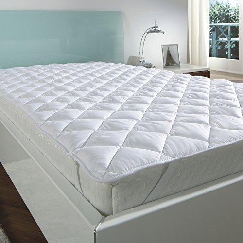 7dreams® Matratzenauflage Mikrofaser Soft-Topper Unterbett mit spezieller Klimafaser Füllung - Öko-Tex Siegel- Matratzenschoner auf für Boxspring- und Wasserbetten - verschieden Größen - (90x190 bis 100x200 cm)