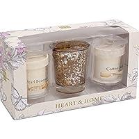 Home-Candela profumata a forma di cuore con confezione regalo