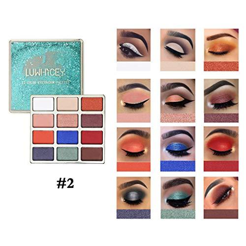 LEEDY Ombre à PaupièRes Mat,CosméTique Brillante Palette De Maquillage Set Fard à PaupièRes 12 Couleurs