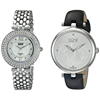Burgi Women's BUR152SS Silver Quartz Watch Set Including BUR151SS And BUR126SS