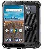 Ulefone Armor X - 5,5'HD (rapporto 18: 9) IP68 Impermeabile/antiurto 4G Smartphone Android 8.1, batteria 5500mAh (supporto carica wireless), Quad Core da 1,5 GHz + 16 GB - Nero