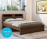 #4: Spacewood Mars Queen Size Bed (Woodpore, Bronze Walnut)