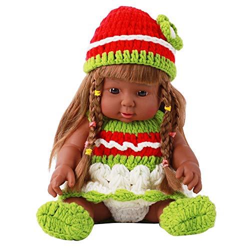 e Kinder Erwachsenen PäDagogisches Entwicklungs Spielzeug FüR Baby Toy Cartoons Lernwerkzeuge MöBel Puppenhaus Waschbar Weichen KöRper Bbay Spielen Puppen Geschenk ()
