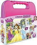Puzzles Educa - Maleta con Puzzles progresivos, diseño Princesas...