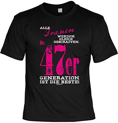 Cooles T-Shirt zum 70. Geburtstag Frauen 1947er Generation Geschenk 70. Geburtstag 70 Jahre Geburtstagsgeschenk Geschenk Opa Oma Großeltern Schwarz