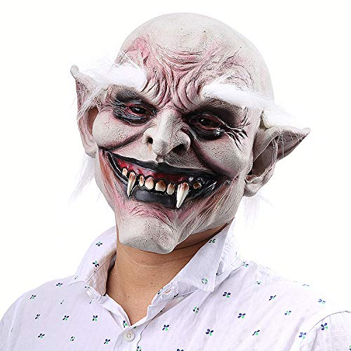 Weißbrauen Alter Dämon Halloween Horror Teufel Maske Vampir Spuk Haus Dress Up Requisiten Latex Hood