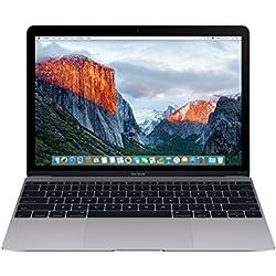"""Apple - MacBook 12"""" (All-in-One Desktop PC, 1.2 GHz, 512 SSD, 8 GB RAM, Intel), Gris"""