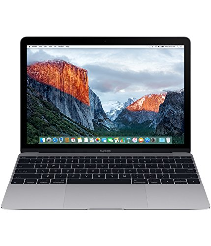 Apple MacBook 12-inch Laptop (Intel Core m5 1.2 GHz, 8 GB RAM, 512 GB SSD, Intel HD Graphics 515, OS Sierra) - Space Grey - 2016 - MLH82B/A - UK Keyboard