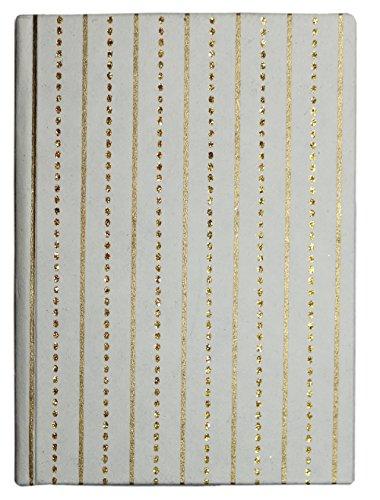 Handgefertigt Notebooks mit Baumwolle Papier Seiten Glitter Gold Stripes Large