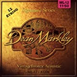 Dean Markley 2204 Pack de 12 cordes Light pour guitare acoustique