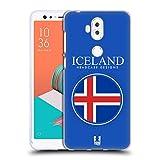 Head Case Designs Isländische Fahne Fahnen Flicken Soft Gel Hülle für ASUS Zenfone 5 Lite ZC600KL