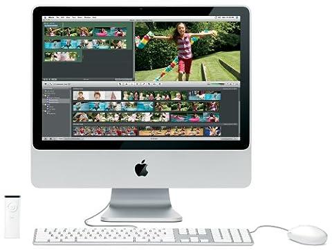 Apple MA876 iMac 50,8 cm (20 Zoll) Desktop-PC (Intel Core 2 Duo 2,0 GHz, 1GB RAM, 250 GB HDD, DVD+- DL RW, ATI Radeon HD 2400 XT)