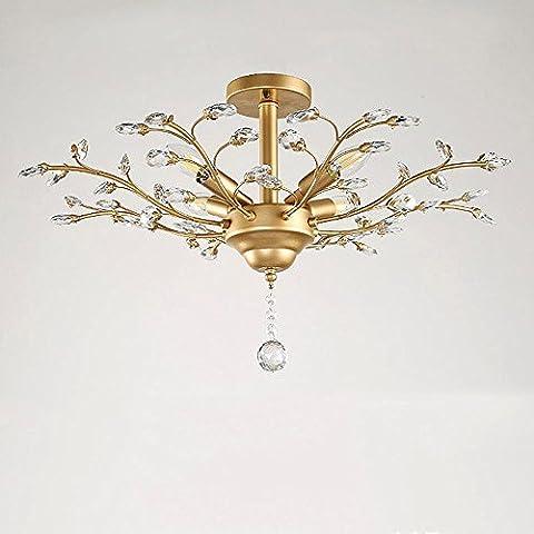 Retro Kronleuchter Pendelleuchte Leuchte Modern Design E14 Metall und Crystal Pendelleuchten Deco Lampe Rustikal Hängeleuchte Leuchte Max 40W (Leuchtmittel nicht (Leichter Rost Matt)