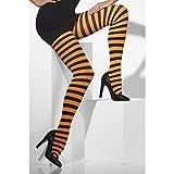 Amakando Gestreifte Strumpfhose Ringel Damenstrumpfhose Geringelt Strumpfhosen Streifen Feinstrumpfhose Sexy Pantyhose Damen Kostüm Zubehör