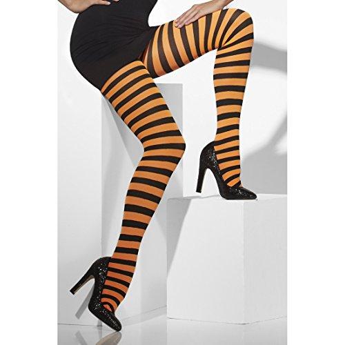 se Ringel Damenstrumpfhose geringelt Strumpfhosen Streifen Feinstrumpfhose Sexy Pantyhose Damen Kostüm Zubehör (Orange Und Schwarze Strumpfhose)