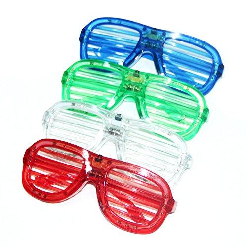 Hemore LED Neon Draht Brille 80er Party Leuchtbrille Sonnenbrille für Weihnachts Dekoration Neujahr Club Bar Disko Kostüm Konzert Rave Möbelzubehör Wohnaccessoires