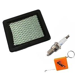 HURI Filtre à air + Bougie d'allumage pour Tondeuse à Gazon GC135, GC160, GC190, GCV135, GCV160, GCV190, GX100, GXV57…