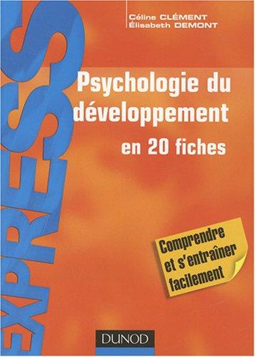 Psychologie du développement par Céline Clément