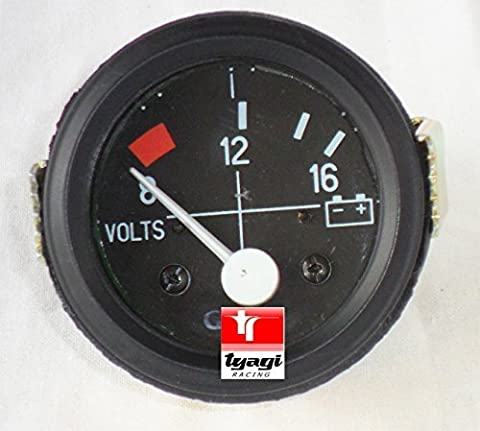 8-16V Voltmeter Voltage Gauge Meter Vintage Electrical 52mm Black 2