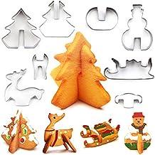 ouken de Acero Inoxidable de Navidad 3D de la Torta del Molde del Molde de la